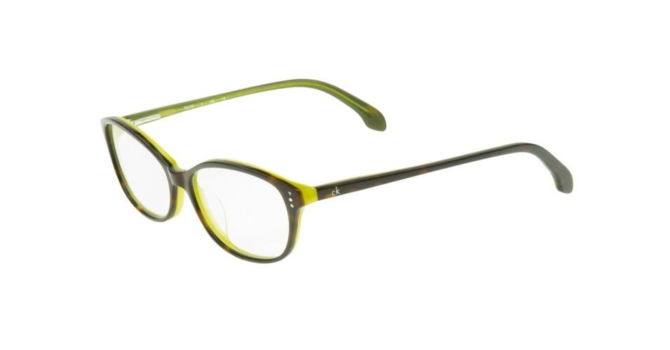 Óculos com a parte interna amarela; R$ 475, na Eótica (www.eotica.com.br). Preço pesquisado em abril de 2013 e sujeito a alterações