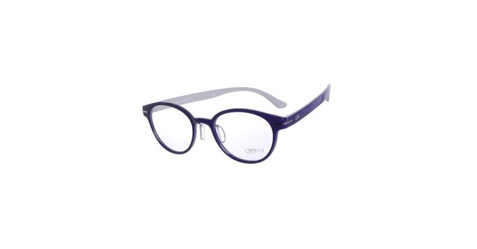 Óculos com armação parecida com a de Luana (Louise D?Tuani), mas na cor azul; R$ 248, na Chilli Beans (www.chillibeans.com.br). Preço pesquisado em abril de 2013 e sujeito a alterações