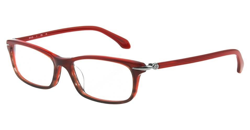 Óculos de grau vermelho com aro fino; R$ 475, da Calvin Klein, na eÓtica (www.eotica.com.br). Preço pesquisado em abril de 2013 e sujeito a alterações