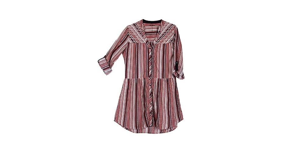 Vestido chemise listrado; R$ 269, da Cantão, na Lets (www.uselets.com.br). Preço pesquisado em abril de 2013 e sujeito a alterações
