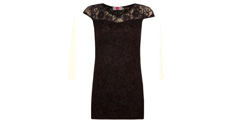 Vestido de renda justinho no corpo; R$ 159,90, da Pink Connection, na Dafiti (www.dafiti.com.br). Preço pesquisado em abril de 2013 e sujeito a alterações