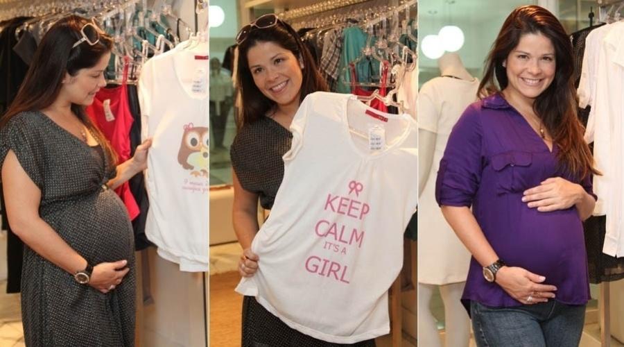 18.abr.2013 - Grávida pela segunda vez, Samara Felippo compra roupas para gestante