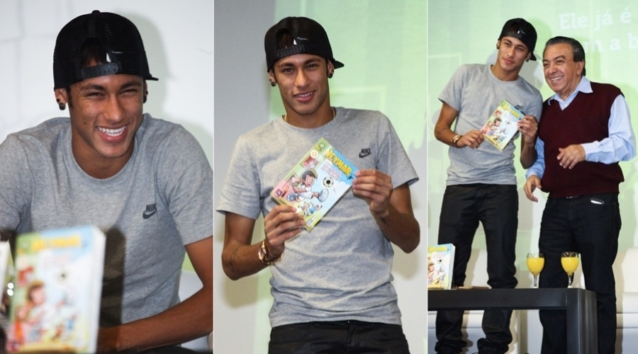 18.abr.2013 - O jogador Neymar virou personagem de revista em quadrinhos pelas mos de Maurcio de Souza. A revista, intitulada 