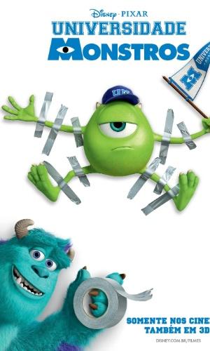 """A Disney Pixar divulgou novo material do filme """"Universidade Monstros"""" que mostra os cartões de identidade de alguns personagens. A nova imagem mostra dois dos protagonistas, James P. Sullivan o Sulley (voz original de John Goodman) e Mike Wazowski (voz original de Billy Crystal)"""