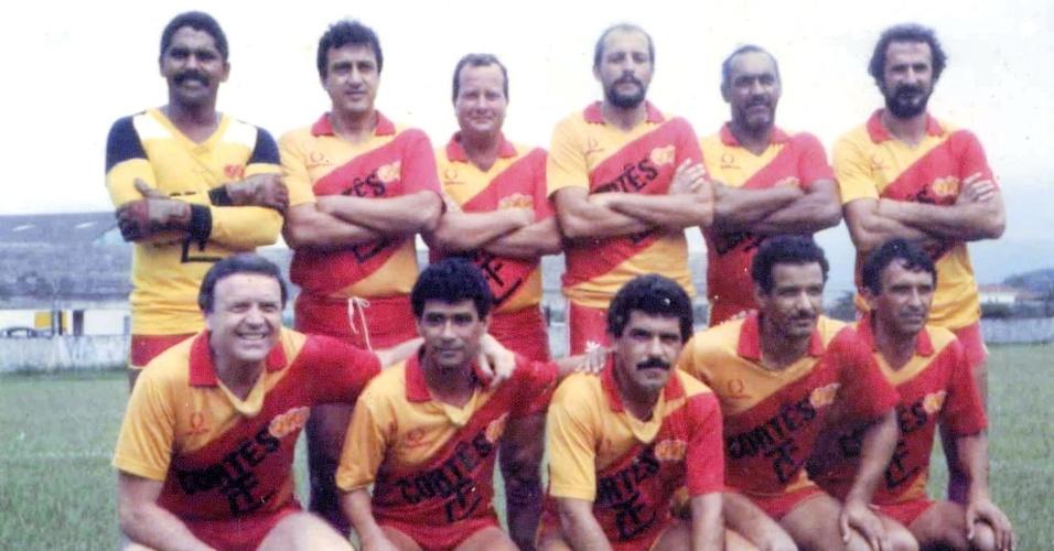 José Maria Marin em partida amistosa dos veteranos do Jabaquara, nos anos 80