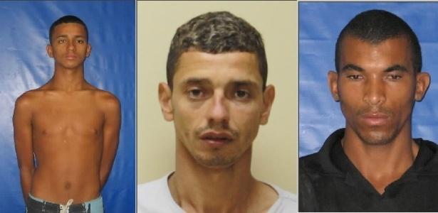 """19.abr.2013 - Policiais d4 54ª Distrito Policial (Belford Roxo) identificaram três homens acusados do homicídio do policial militar Alan de Souza Martins, assassinado na noite de quarta-feira (17), em Belford Roxo, na Baixada Fluminense. Josimar Luiz da Silva Kely, o """"Ratão"""", Wagner Costa Teixeira, o """"Guiu"""" e Luan Nilson Lúcio dos Santos, o """"Buiú"""" tiveram o mandado de prisão expedido, na tarde desta quinta-feira (18) e estão sendo procurados"""