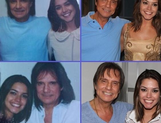 19.abr.2013 - Thais Fersoza publica foto ao lado de Roberto Carlos