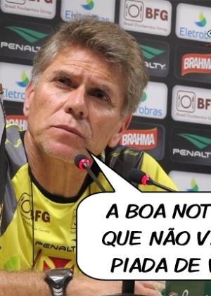 Corneta FC: Por fim de piadas de vice, técnico do Vasco comemora má fase