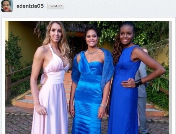 Thaisa, Adenizia e Fabiana mostram estilo das madrinhas no casamento de Sheilla