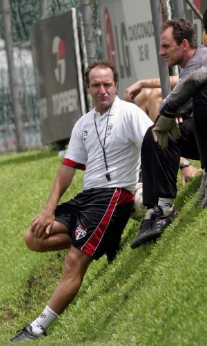 Rogério Ceni e Cuca, em treino do São Paulo em 2004