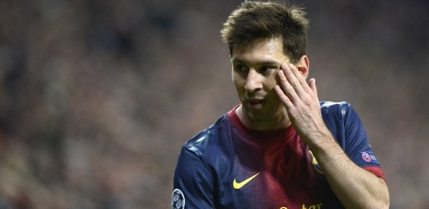 Messi pouco relou na bola durante a goleada sofrida pelo Barcelona nesta terça