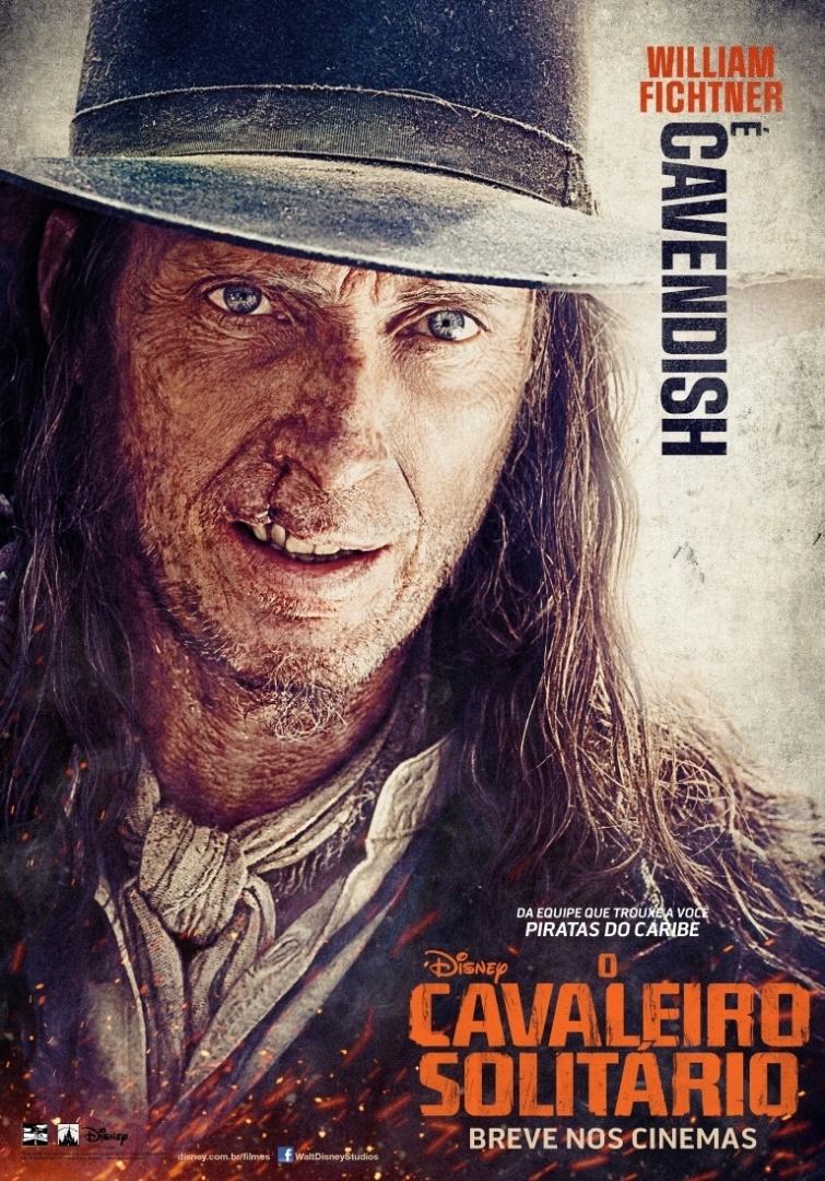 """23.abr.2013 - Pôster nacional do filme """"O Cavaleiro Solitário"""" mostra William Fichtner como Butch Cavendish. Cheio de cicatrizes no rosto, Cavendish é um cruel e desalmado fora da lei"""