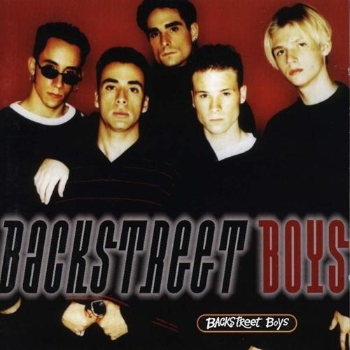 Capa do primeiro álbum homônimo dos Backstreet Boys, lançado em 1996 na Europa. Em 2013, a banda completa 20 anos de carreira e ganhará uma estrela na calçada da fama
