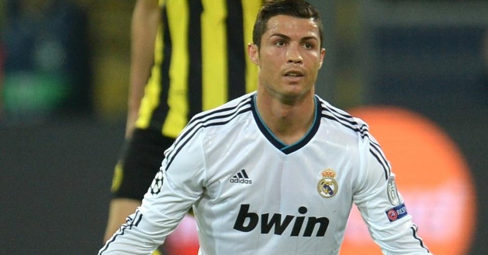 24.abr.2013 - Cristiano Ronaldo faz cara de poucos amigos na partida entre Real Madrid e Borussia Dortmund
