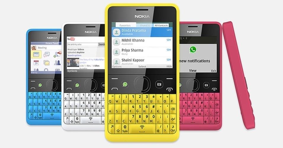 24.abr.2013 - Fugindo dos aparelhos touchscreen, a Nokia anunciou a chegada do Asha 210, com teclado QWERTY. O gadget possui uma câmera de 2 megapixels, dois chips e tela de 2,4 polegadas. O preço é de US$ 70 (cerca de R$140). A previsão de chegada no Brasil é no segundo semestre deste ano