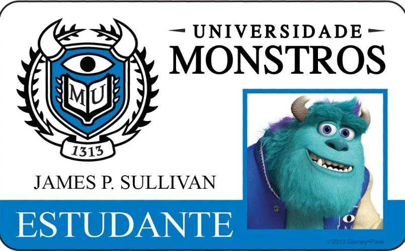 """A Disney Pixar divulgou novo material do filme """"Universidade Monstros"""" que mostra os cartões de identidade de alguns personagens. Dono de um físico corpulento e um rugido de dar medo, Sulley é representante de uma longa estirpe de grandes assustadores. Ele vai precisar deixar o orgulho de lado para juntar-se a um excêntrico grupo de monstros."""