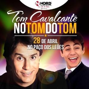 Cartaz do show de Tom Cavalcante com o filho de Shaolin