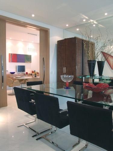 Porta De Vidro Para Sala De Jantar ~ Design foi integrar a sala de jantar com a sala de almoço por meio de