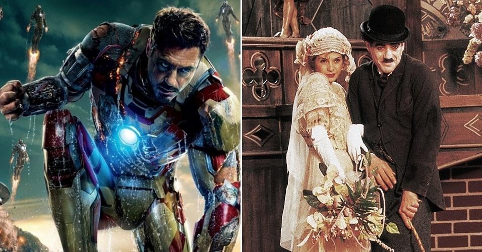 O ator Robert Downey Jr. se inspirou em trabalho anterior como Chaplin para dar humor ao Homem de Ferro