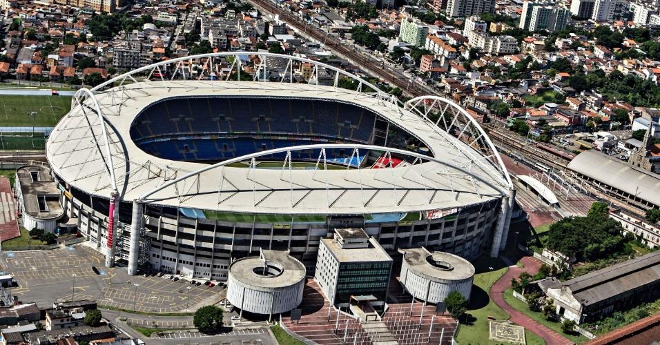 Vista aérea do Estádio Olímpico João Havelange, o Engenhão