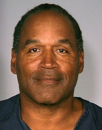 16.set.2007 - O.J.Simpson foi detido suspeito de roubar troféus e fotos do quarto de um colecionador de artigos esportivos, no hotel Palms, em Las Vegas