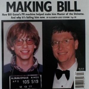 1977 - O criador da Microsoft, Bill Gates, foi fichado quando tinha 21 anos de idade, por ultrapassar um sinal de trânsito e dirigir sem licença, em Albuquerque