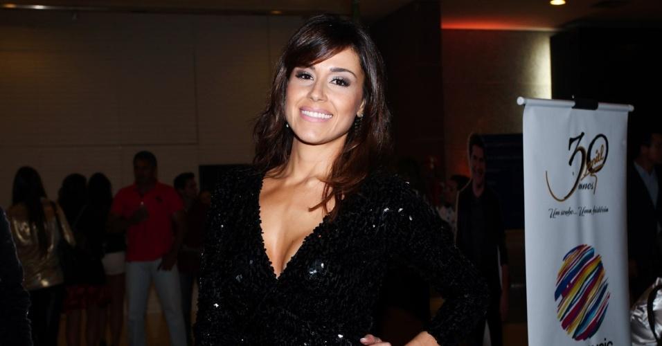 25.abr.2013 - Nadja Haddad na gravação do DVD em comemoração dos