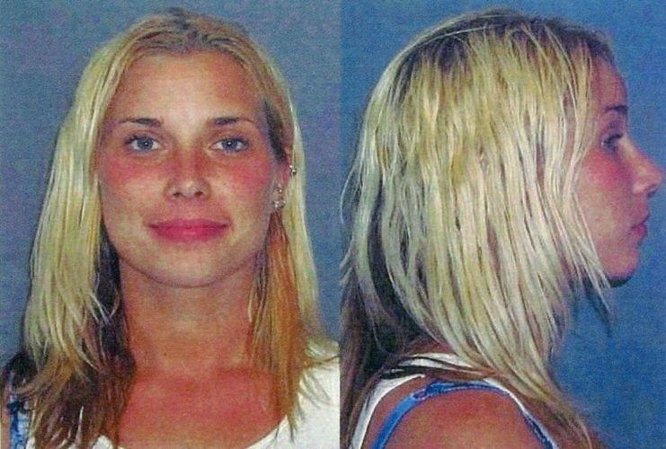 2.jul.2003 - A ex-mulher do rapper Eminem, Kim Mathers, foi detida pela polícia de St. Clair Shores, em Michigan, detida por posse de substância controlada, dirigir sem licença e não ter o devido cuidado ao ultrapassar um veículo de emergência