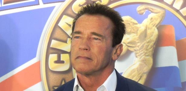 Arnold Schwarzenegger em evento esportivo e feira de negócios no Rio de Janeiro