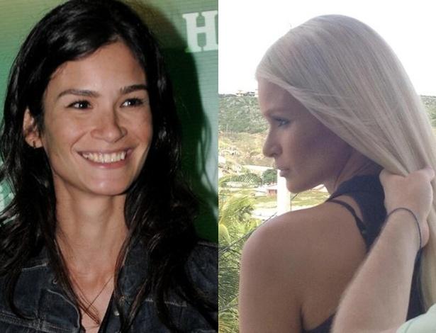 A top Carol Ribeiro, que sempre foi morena, ficou loira platinada para uma campanha publicitária. Ela publicou as imagens em seu blog.