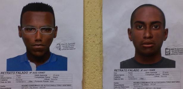 Retrato falado de dois suspeitos de matar dentista queimada em São Bernardo do Campo