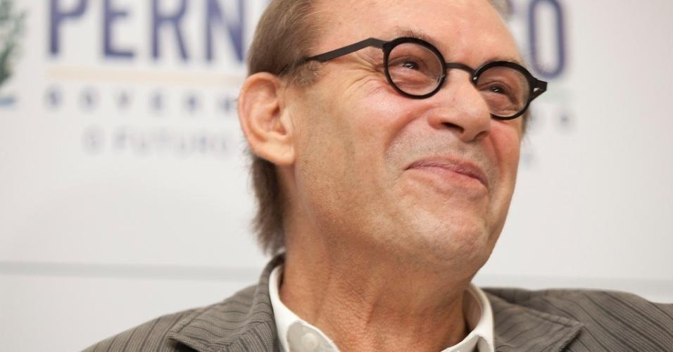 27.abr.2013 - O ator e diretor José Wilker participa da coletiva de imprensa de seu novo filme