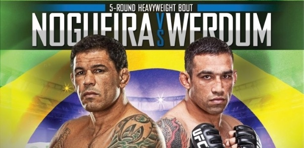 Cartaz da final do TUF Brasil 2, que ter a final do reality show do UFC e o duelo de tcnicos Minotauro e Werdum, dia 8 de junho, no 