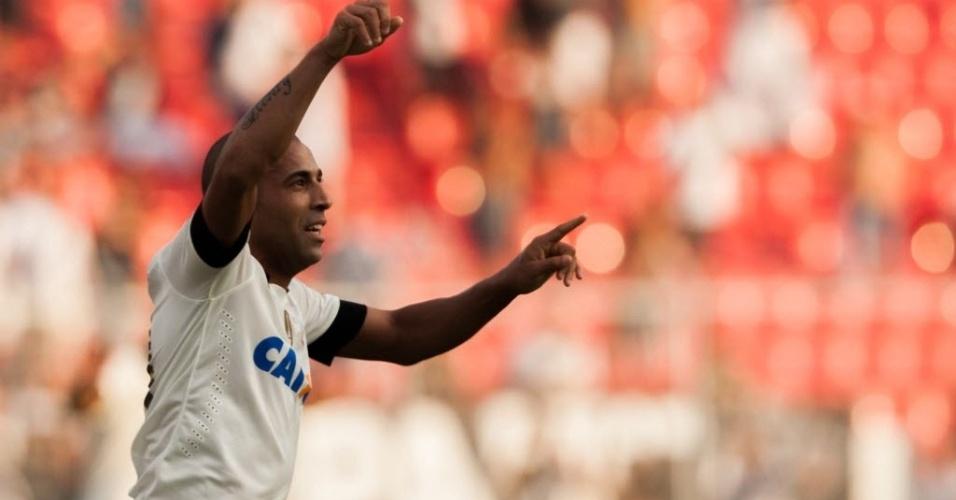 Emerson marcou o segundo gol do Corinthians no duelo contra a Ponte Preta