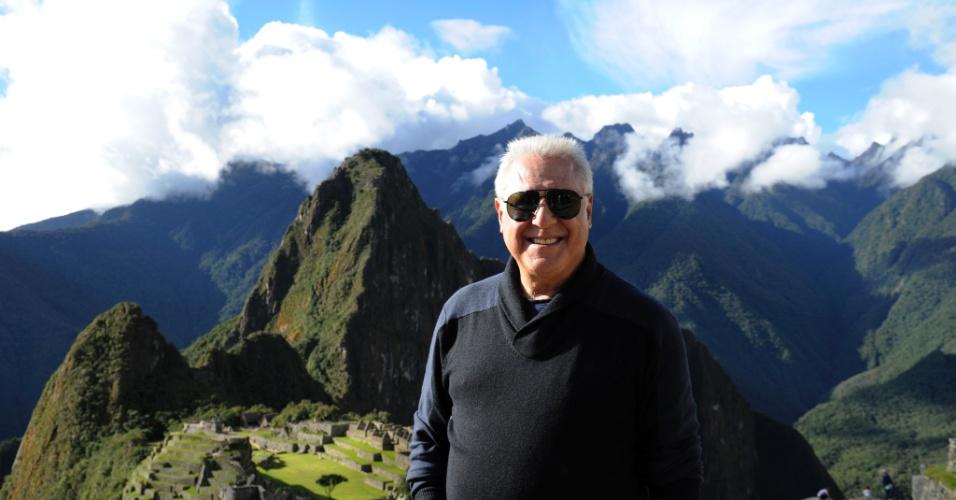 """Ator Antônio Fagundes grava cena de """"Amor à Vida"""", próxima novela das nove no Peru"""