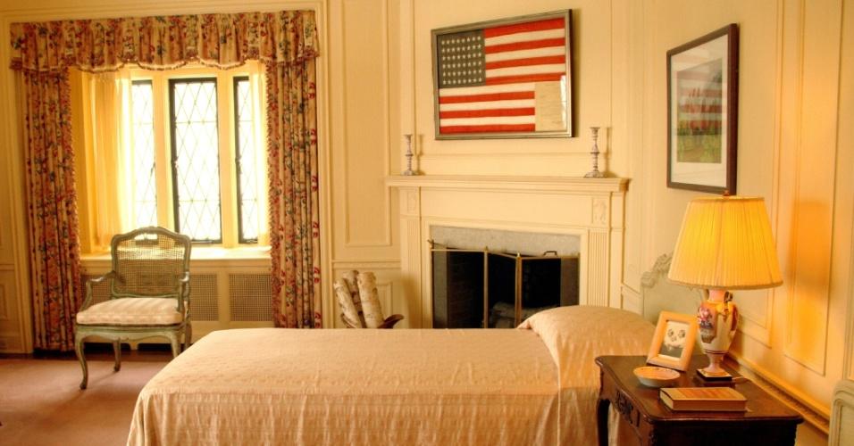 Detalhe do quarto de Josephine, uma das filhas do casal Edsel e Eleanor, cuja residência dos anos 20 pode ser visitada em Detroit, nos Estados Unidos