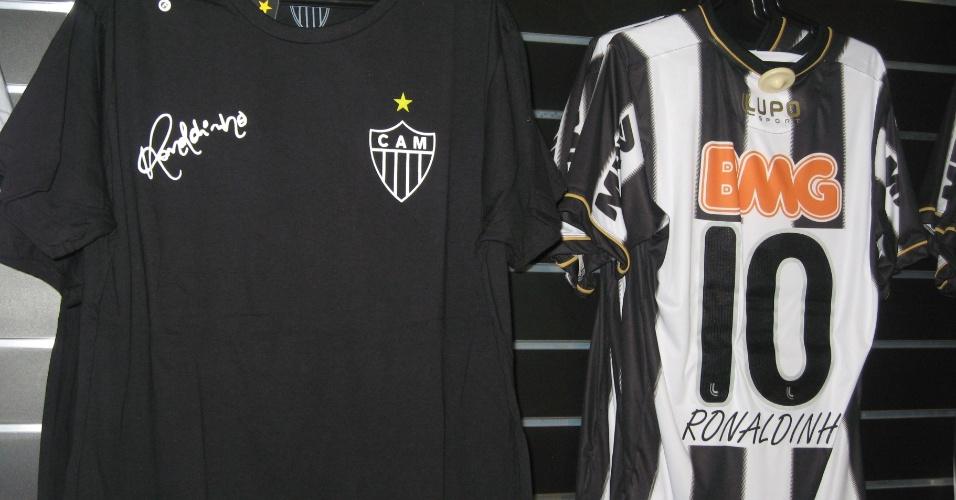 Linha de produtos com a marca de Ronaldinho Gaúcho foi lançada na Loja do Galo