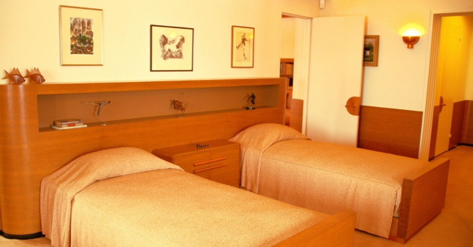 Os quartos dos filhos de Edsel Ford, na residência dos anos 20 em Detroit, nos Estados Unidos, foram projetados também pelo designer industrial Walter Dorwin Teague