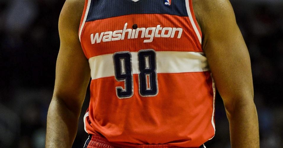 30.abr.2013 - Jason Collins durante partida com o Washington Wizards pela NBA