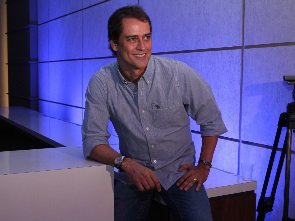 30.abr.2013 - Marcello Antony prestigiou a coletiva de lançamento da novela