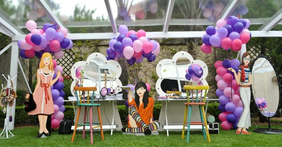 camarim para sessão de fotos da decoradora Dóris Ferraz, da Xic Ballon (www.xicballoon.com.br)