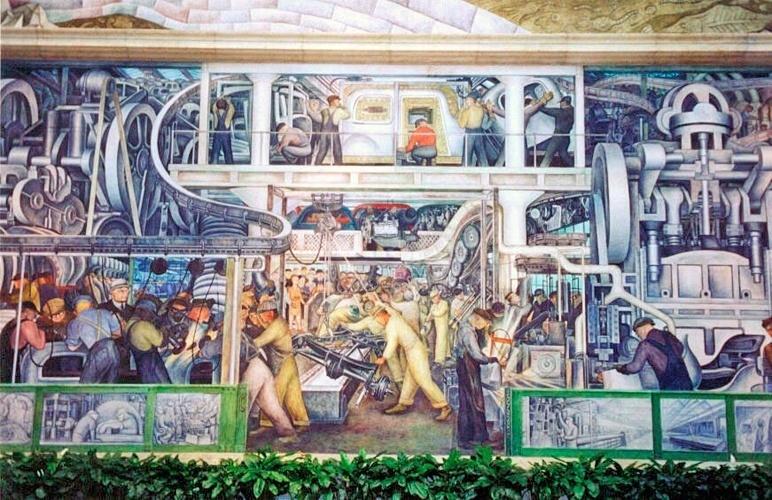 Veja como as artes retrataram o trabalhador fotos uol for Diego rivera mural chicago