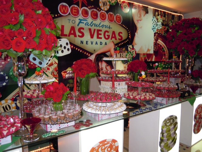 O tema Las Vegas é um dos preferidos dos adolescentes, de acordo com a decoradora de festas Cristiane Pileggi