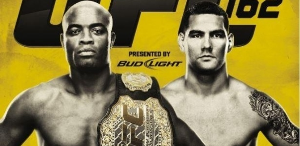 Pster do UFC 162, que ter a disputa do cinturo dos mdios entre Anderson Silva e Chris Weidman