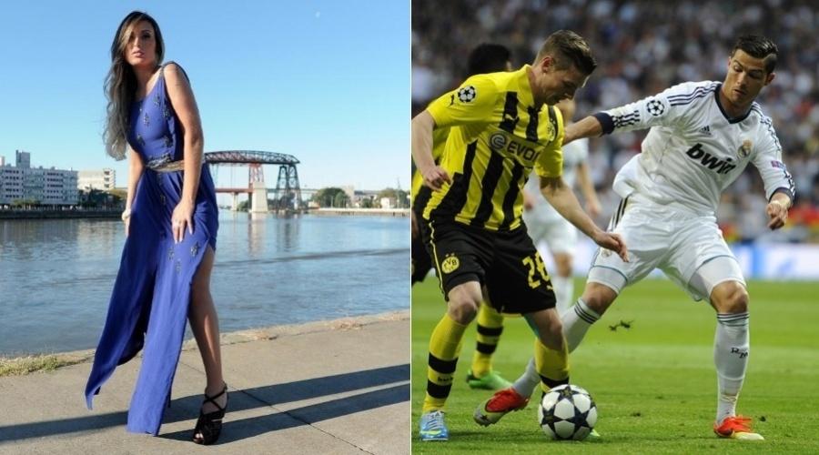 Vice Miss Bumbum, Andressa Urach revelou que passou uma noite com o jogador de futebol Cristiano Ronaldo