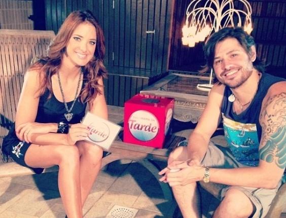 1.mai.2013 - Ticiane Pinheiro entrevistou Dado Dolabella para o