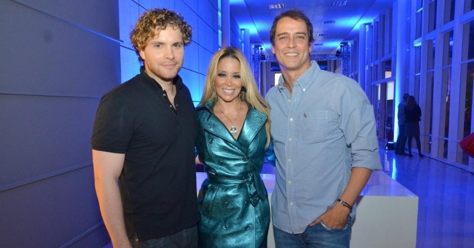 30.abr.2013 - Thiago Fragoso, Danielle Winits e Marcello Antony na coletiva de lançamento da novela