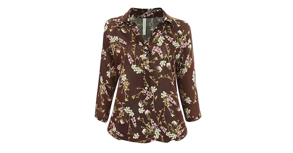 Camisa com manga três quartos e estampa de flor de cerejeira; R$ 89,90, na Renner