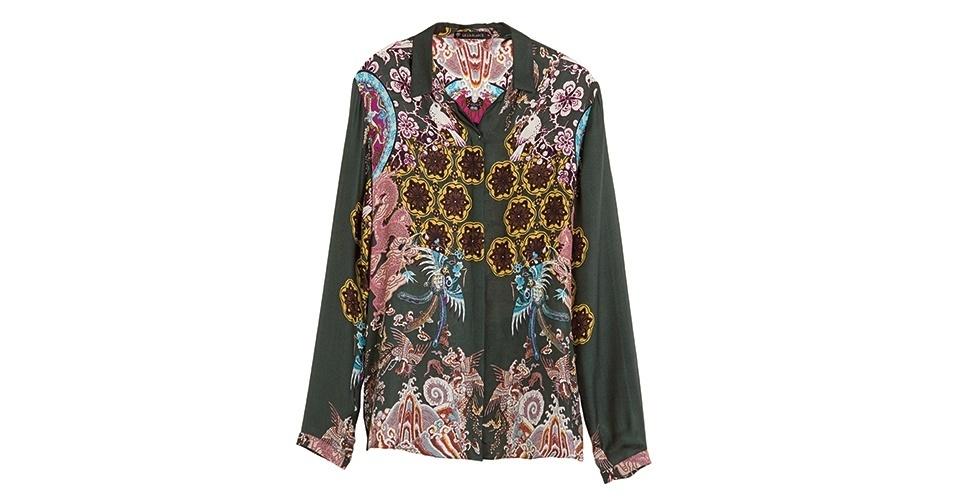 Camisa de seda estampada; R$ 649,50, da Le Lis Blanc