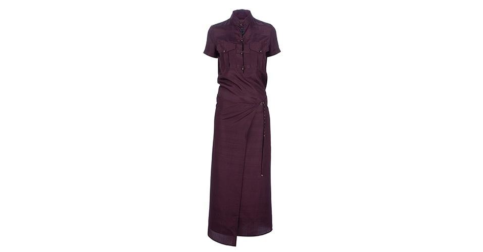 Vestido longo de seda; R$ 1.840, da Jean Paul Gaultier Vintage